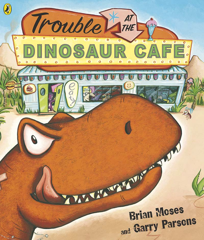 Trouble at the Dinosaur Cafe - Jacket