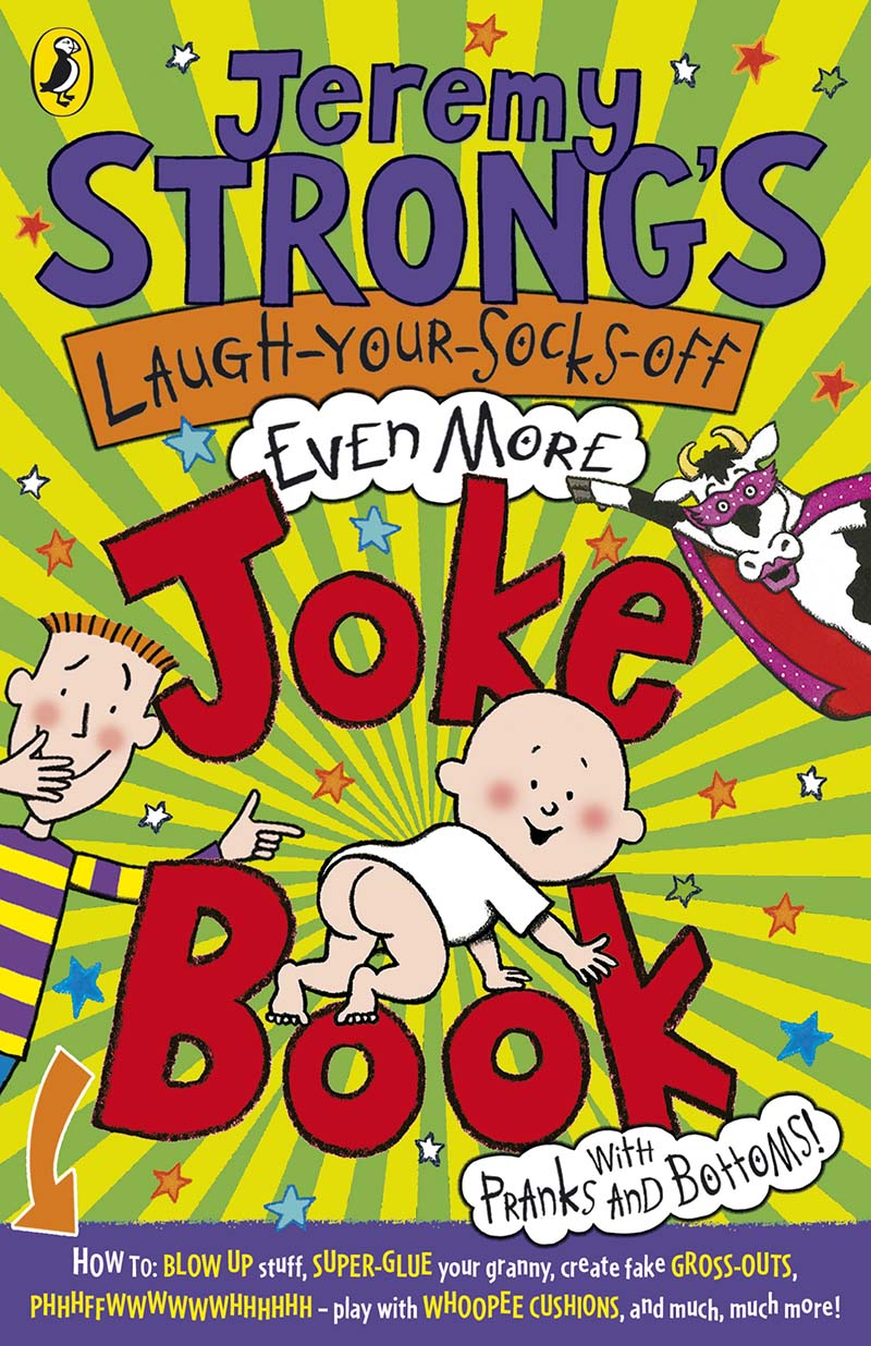 Jeremy Strong's Laugh-Your-Socks-Off-Even-More Joke Book - Jacket
