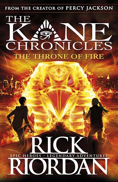 The Throne of Fire (The Kane Chronicles Book 2) - Jacket