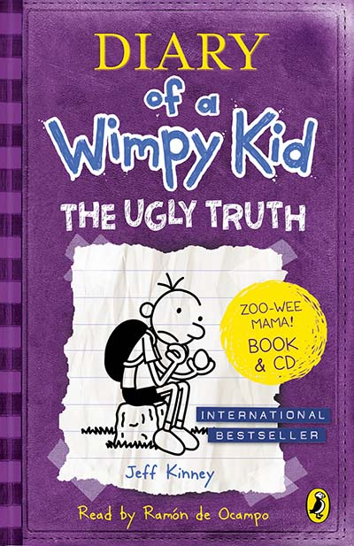 Diary of a Wimpy Kid: The Ugly Truth book & CD - Jacket