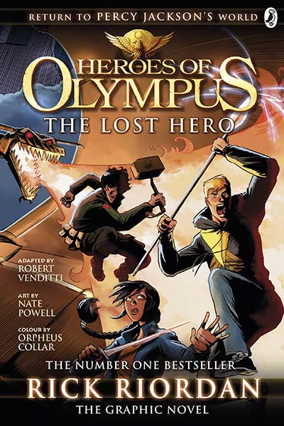 The Lost Hero: The Graphic Novel (Heroes of Olympus Book 1) - Jacket