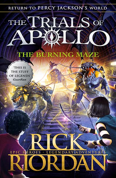 The Burning Maze (The Trials of Apollo Book 3) - Jacket
