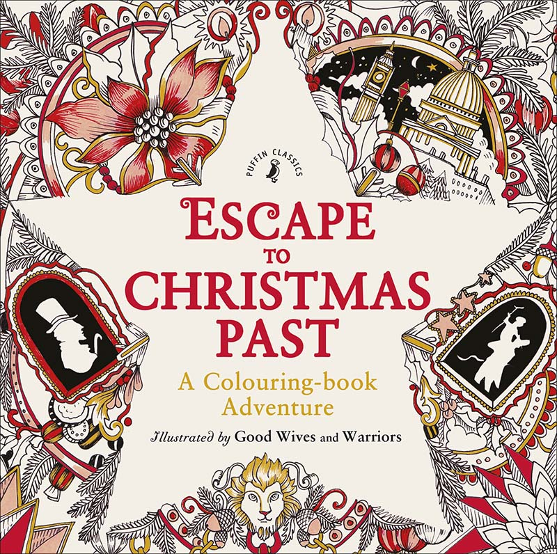 Escape to Christmas Past: A Colouring Book Adventure - Jacket