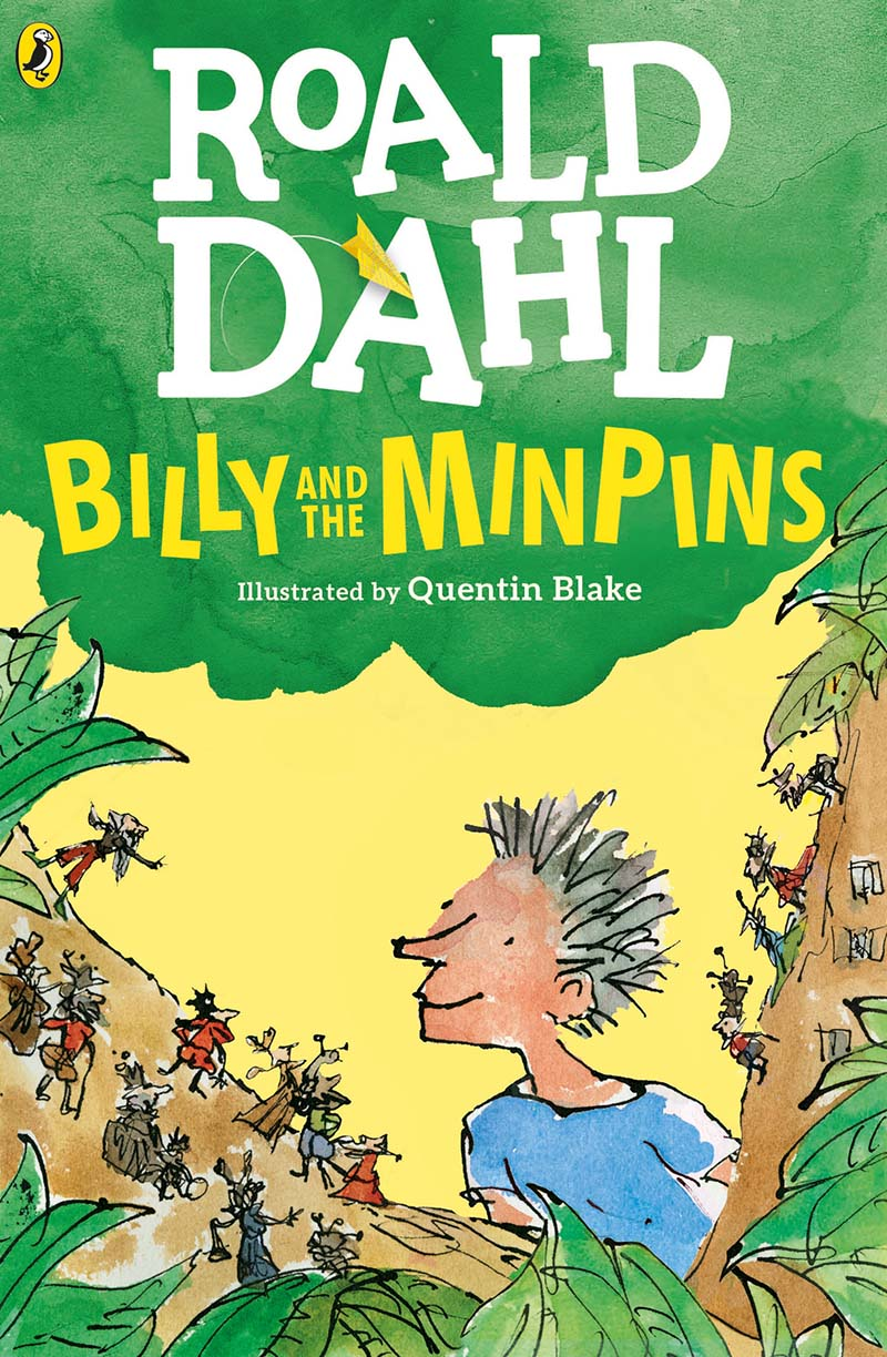 Billy and the Minpins (illustrated by Quentin Blake) - Jacket