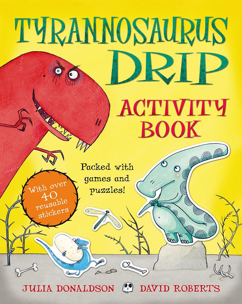 Tyrannosaurus Drip Activity Book - Jacket