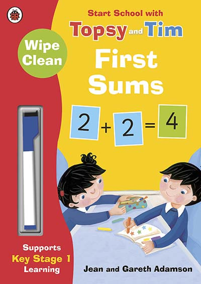 Wipe-Clean First Sums: Start School with Topsy and Tim - Jacket