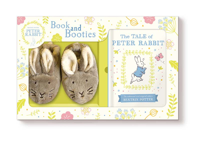 Tale of Peter Rabbit Book and First Booties Gift Set - Jacket