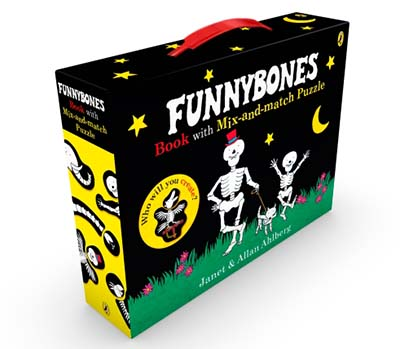 Funnybones book with mix-and-match puzzle - Jacket