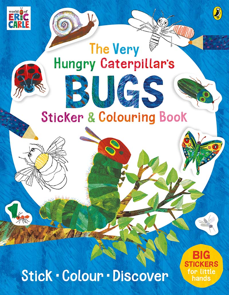 The Very Hungry Caterpillar's Bugs Sticker and Colouring Book - Jacket