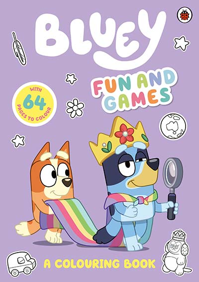 Bluey: Fun and Games Colouring Book - Jacket