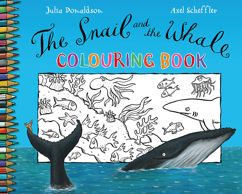 The Snail and the Whale Colouring Book - Jacket