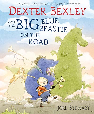 Dexter Bexley and the Big Blue Beastie on the Road - Jacket