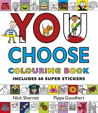 You Choose: Colouring Book with Stickers - Jacket