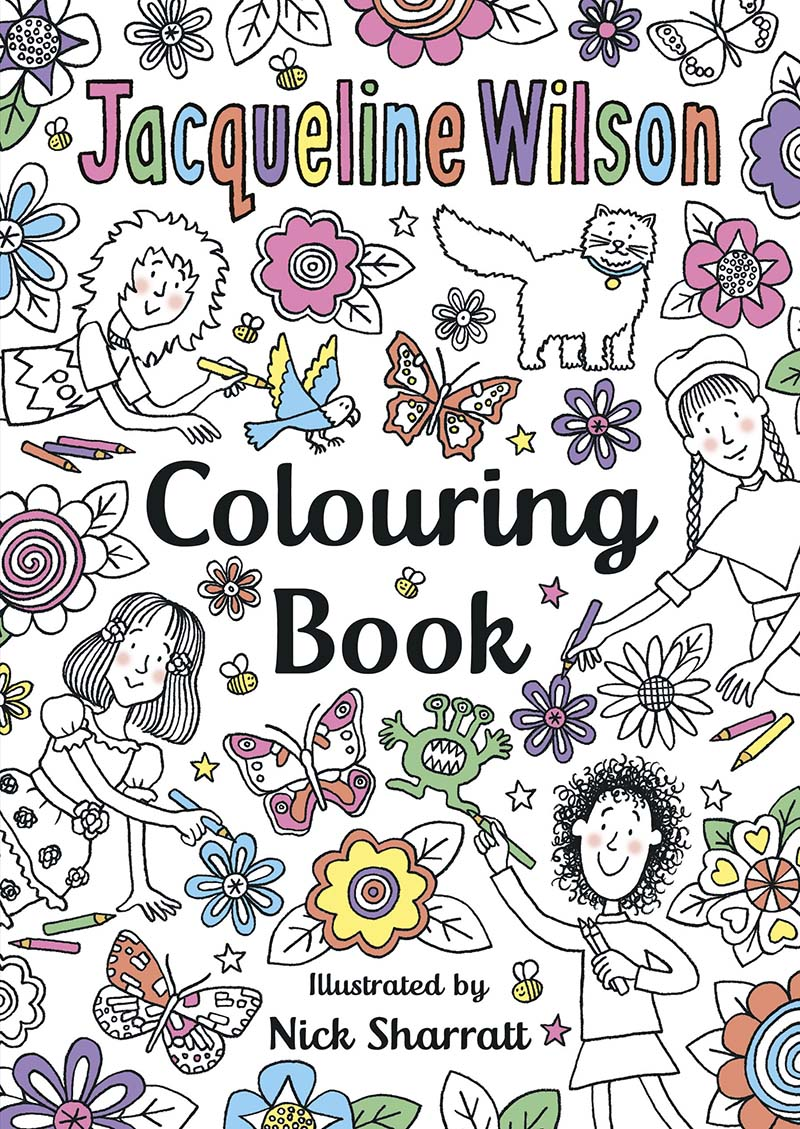 The Jacqueline Wilson Colouring Book - Jacket