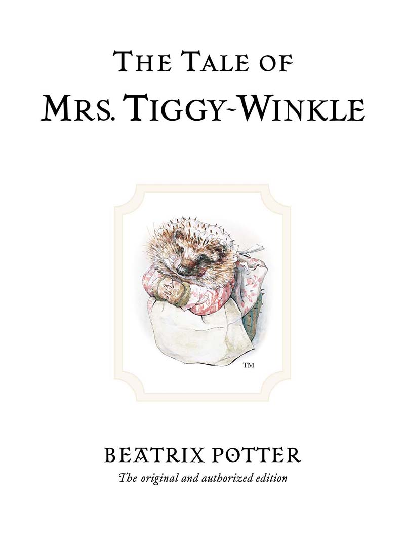 The Tale of Mrs. Tiggy-Winkle - Jacket