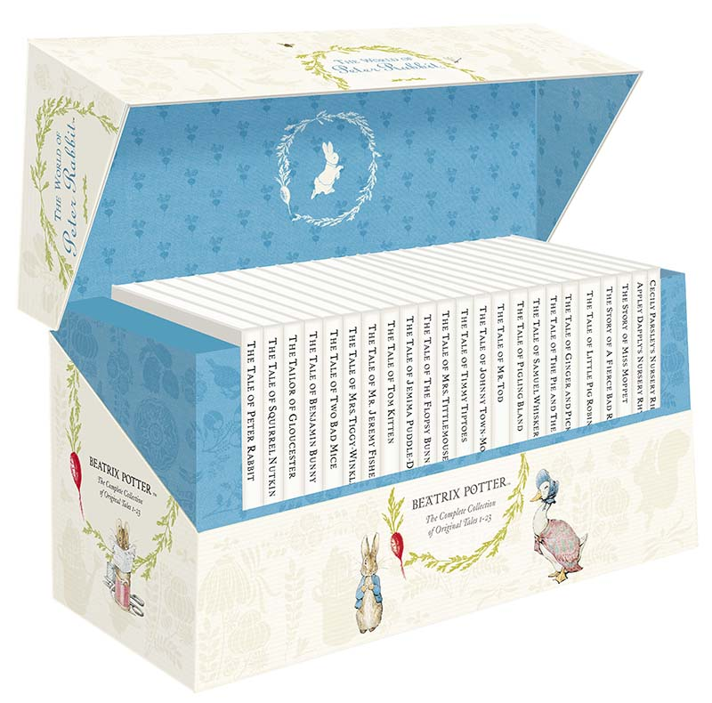 The World of Peter Rabbit - The Complete Collection of Original Tales 1-23 White Jackets - Jacket