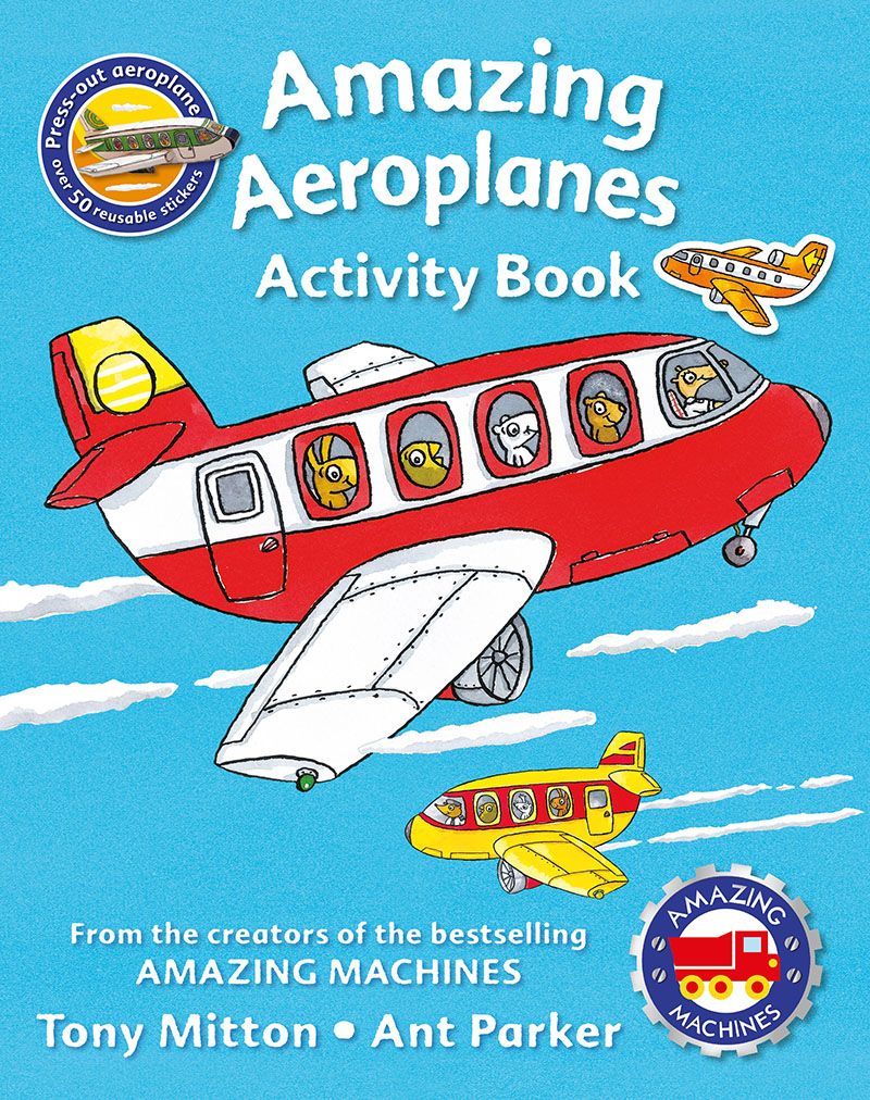 Amazing Machines Amazing Aeroplanes Activity Book - Jacket