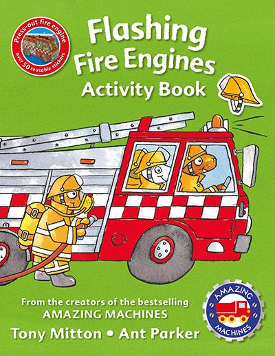 Amazing Machines Flashing Fire Engines Activity Book - Jacket