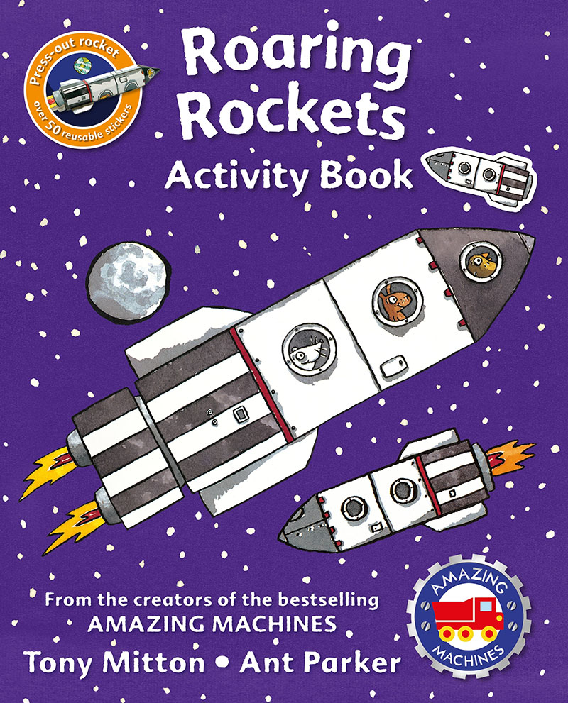 Amazing Machines Roaring Rockets Activity Book - Jacket
