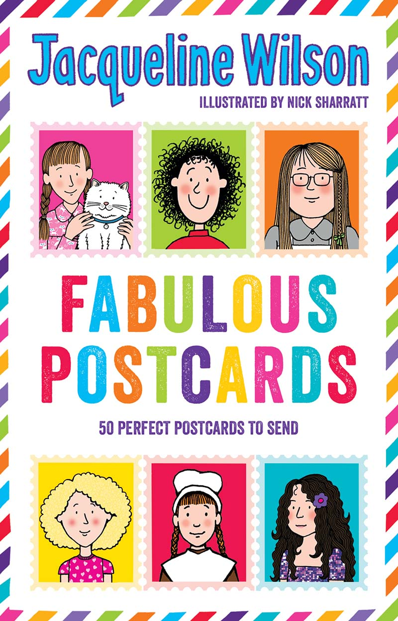 Jacqueline Wilson: Fabulous Postcards - Jacket
