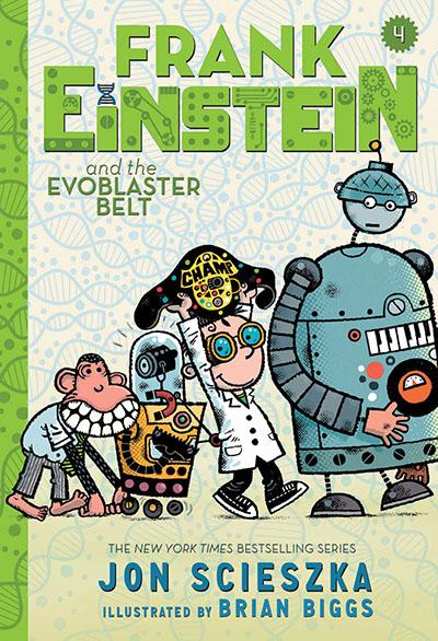 Frank Einstein and the EvoBlaster Belt (Frank Einstein series #4) (UK edition) - Jacket