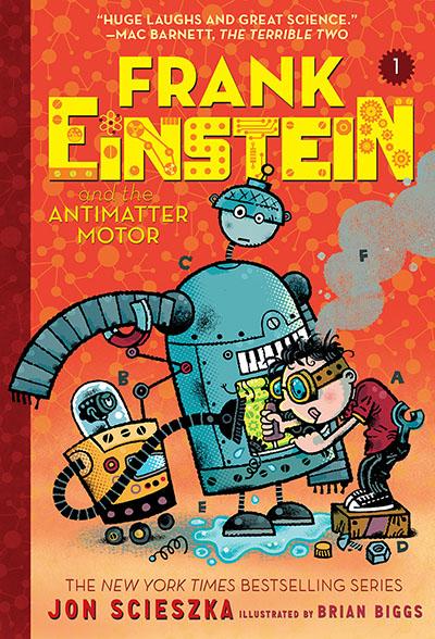 Frank Einstein and the Antimatter Motor (Frank Einstein series #1) - Jacket