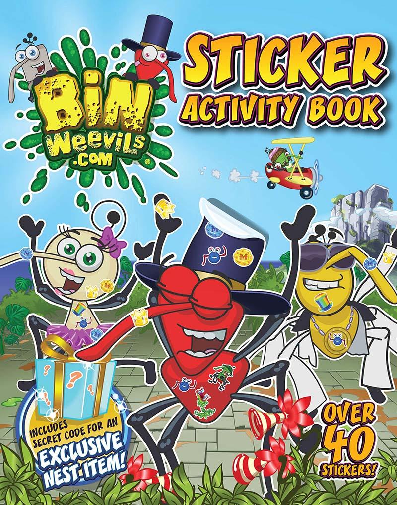 Bin Weevils Sticker Activity Book - Jacket