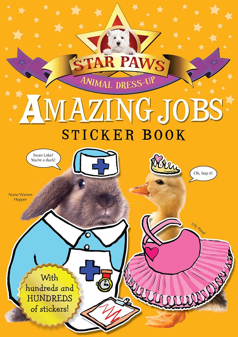 Amazing Jobs Sticker Book: Star Paws - Jacket