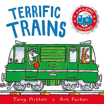 Amazing Machines: Terrific Trains - Jacket