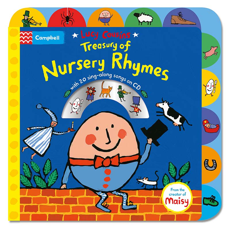 Lucy Cousins Treasury of Nursery Rhymes Book and CD - Jacket