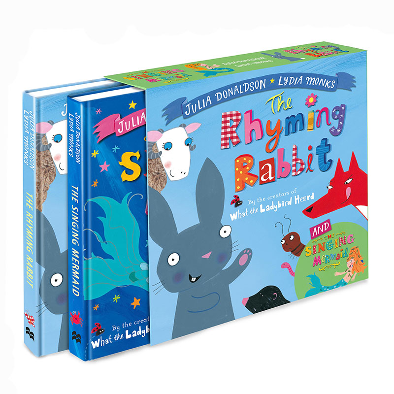 The Singing Mermaid and the Rhyming Rabbit Board Book Gift Slipcase - Jacket