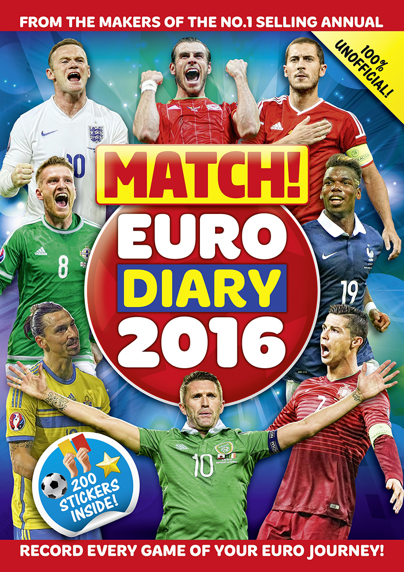 Match! Euro 2016 Diary: Record every game of your Euro journey 100% unofficial - Jacket
