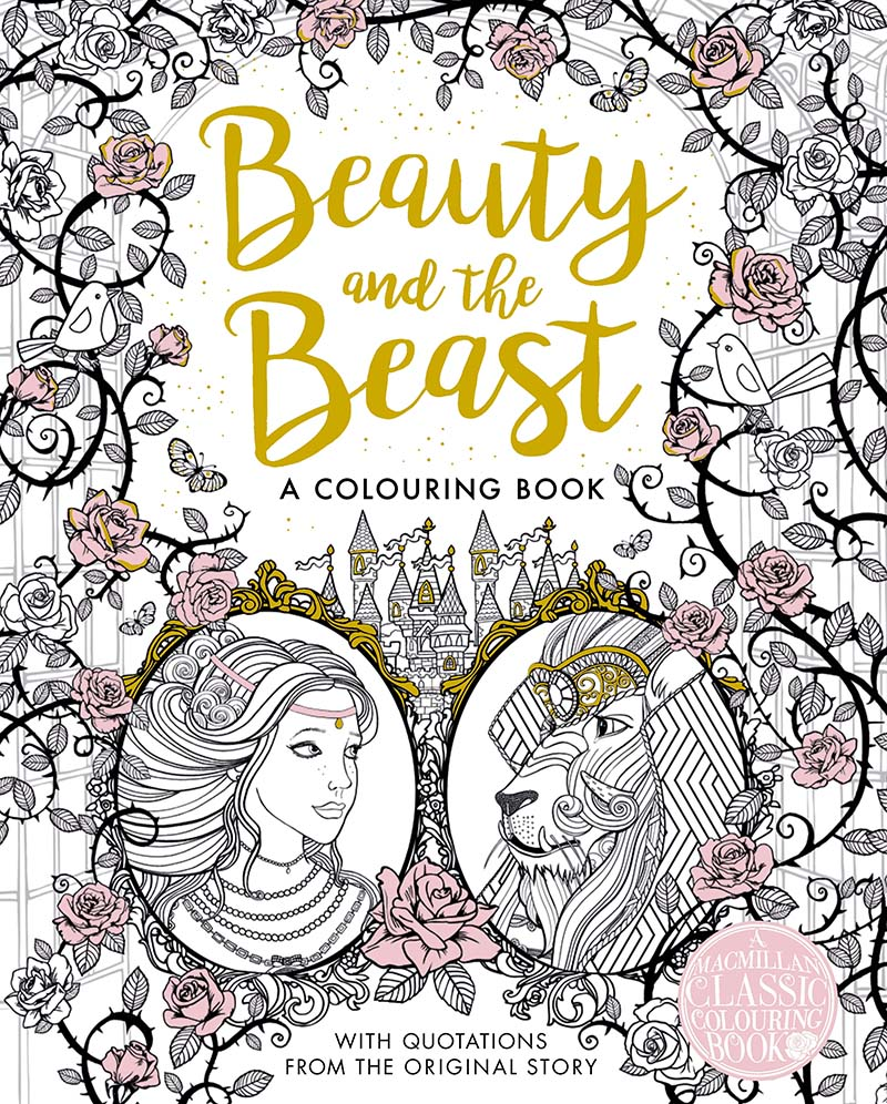The Beauty and the Beast Colouring Book - Jacket