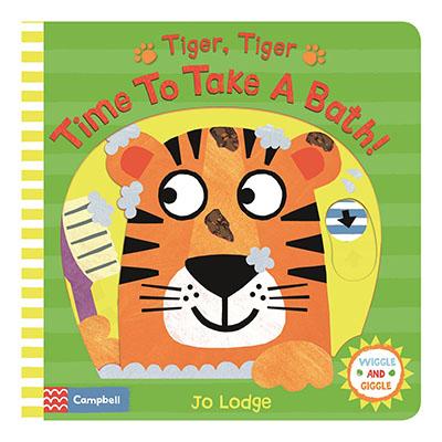 Tiger, Tiger, Time to Take a Bath! - Jacket