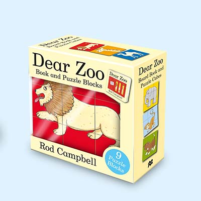 Dear Zoo Book and Puzzle Blocks - Jacket