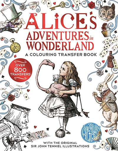 Alice in Wonderland: A Colouring Transfer Book - Jacket