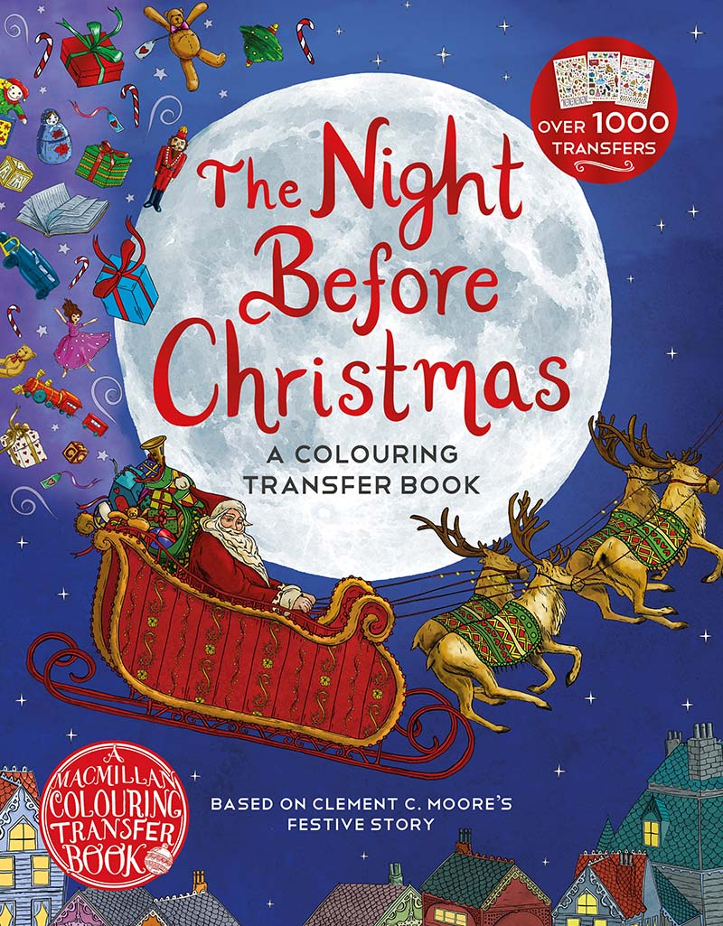 The Night Before Christmas: A Colouring Transfer Book - Jacket