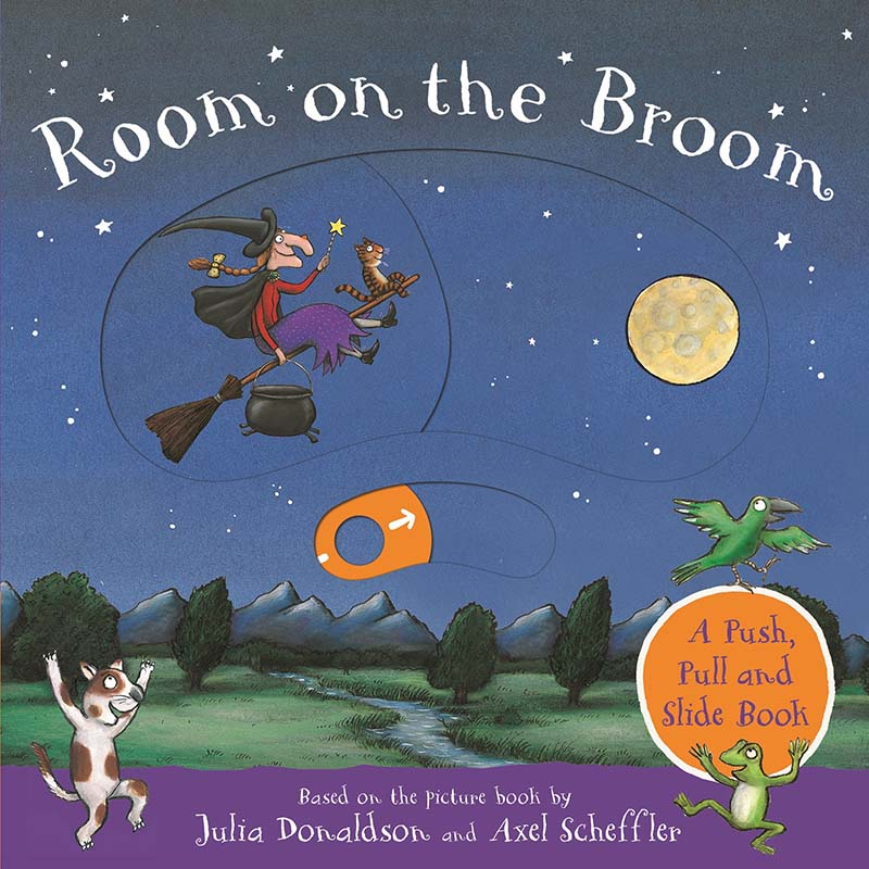 Room on the Broom: A Push, Pull and Slide Book - Jacket