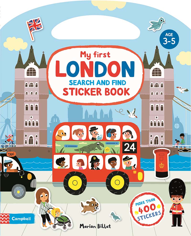 My First Search and Find London Sticker Book - Jacket