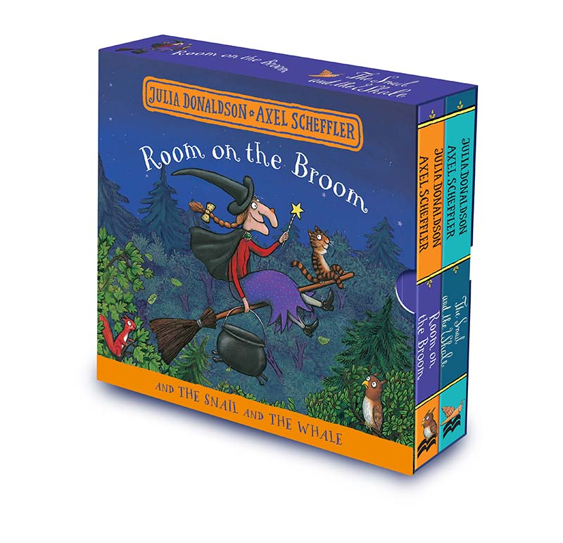 Room on the Broom and The Snail and the Whale Board Book Gift Slipcase - Jacket