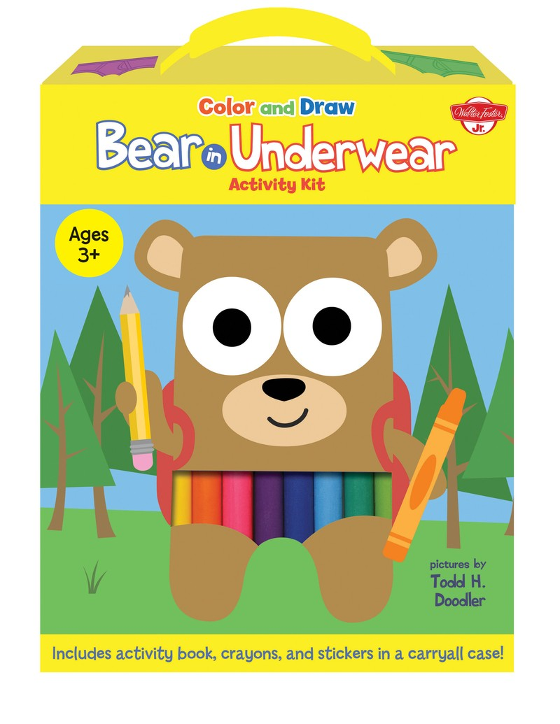 Color and Draw Bear in Underwear Activity Kit - Jacket