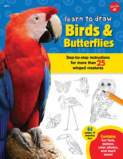 Learn to Draw Birds & Butterflies - Jacket