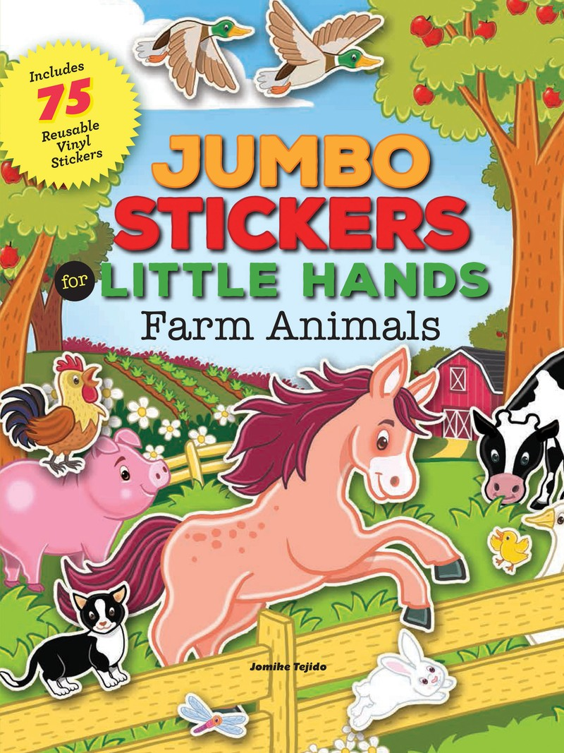 Jumbo Stickers for Little Hands: Farm Animals - Jacket