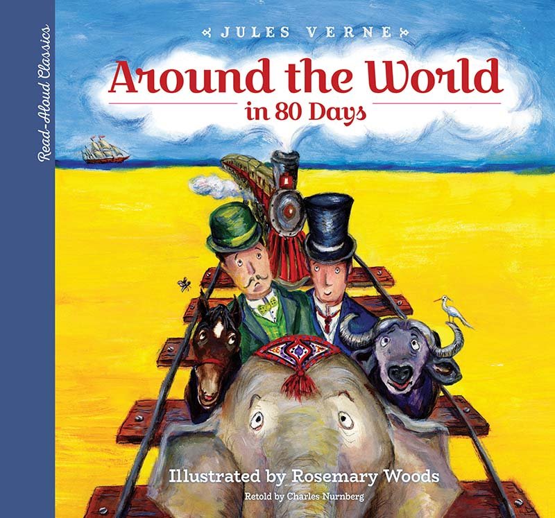 Read-Aloud Classics: Around the World in 80 Days - Jacket