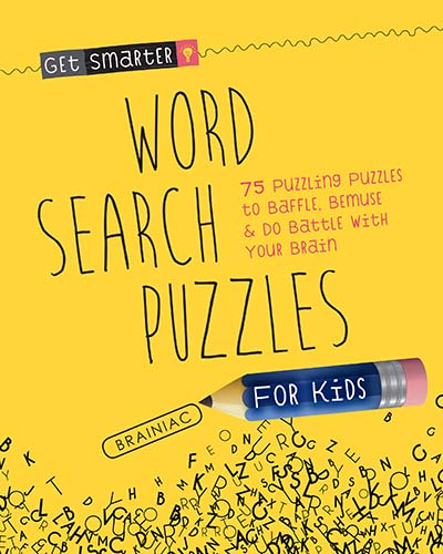 Get Smarter: Word Search Puzzles for Kids - Jacket
