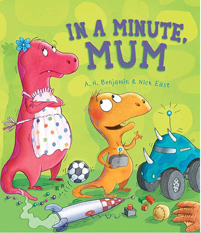 In a Minute, Mum - Jacket