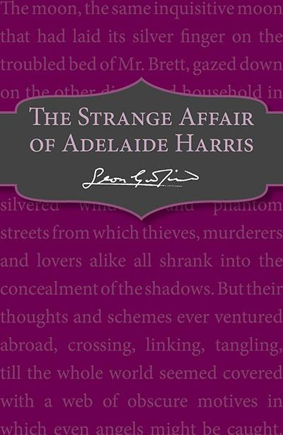 The Strange Affair of Adelaide Harris - Jacket