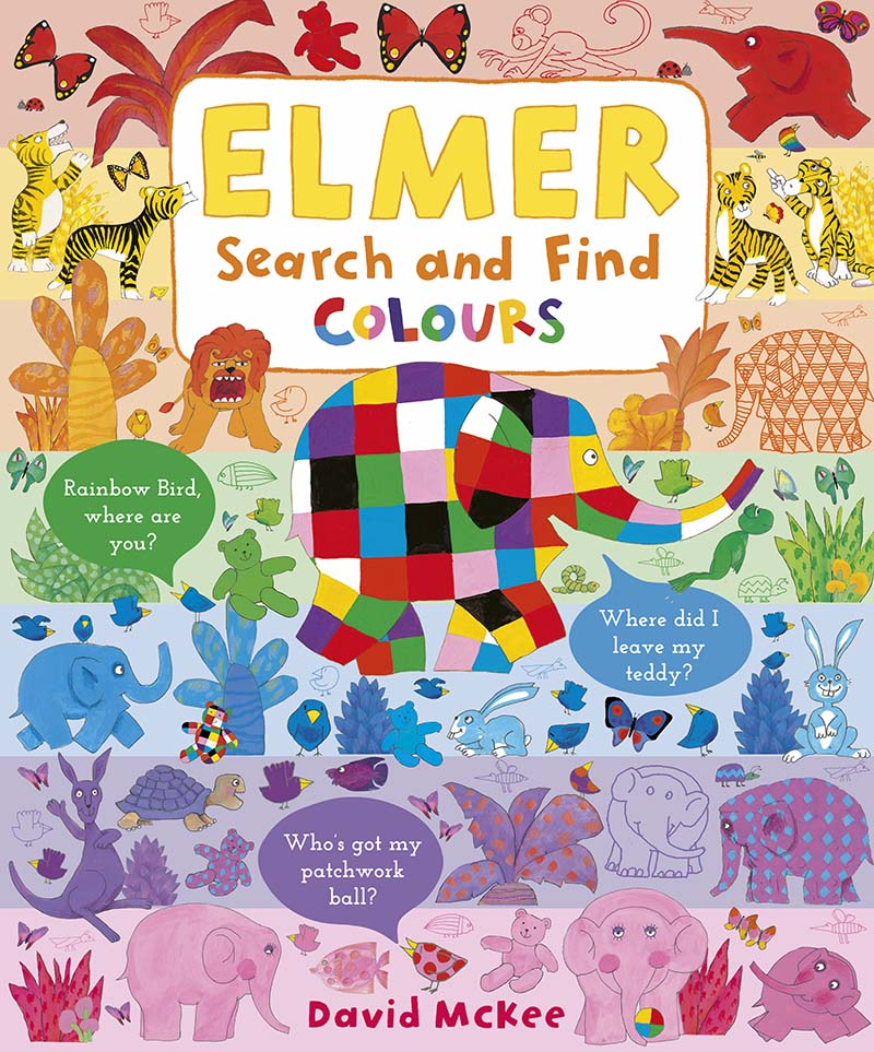 Elmer Search and Find Colours - Jacket