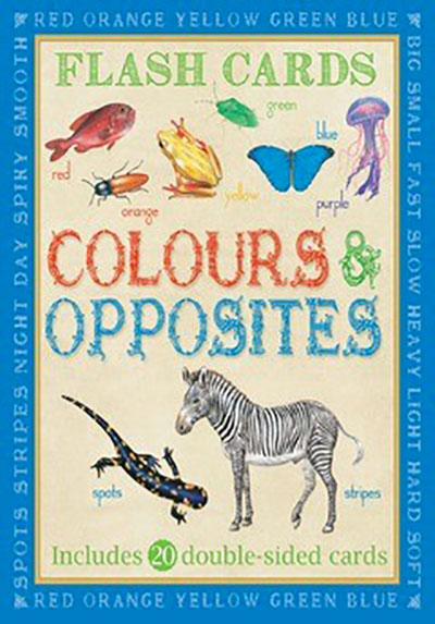 Animal Flash Cards: Colours & Opposites - Jacket
