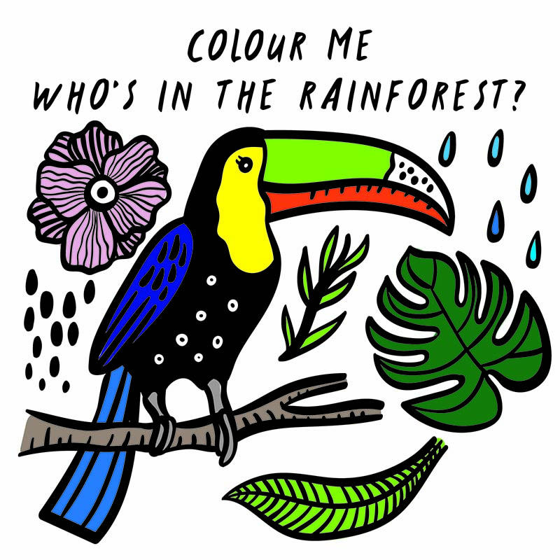 Colour Me: Who's in the Rainforest? - Jacket